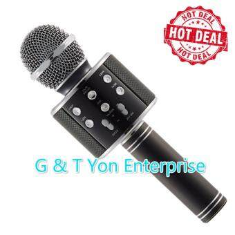 Harga Genius High Quality Ws858 Bluetooth Handheled KTV Karaoke Microphone Q9 Q7 JY-50 can use samsung apple