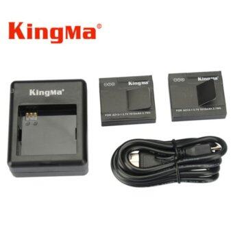 Harga (Genuine) KingMa Xiaomi Yi XiaoYi Action Camera Battery Pack1010mAh Battery x 2 Pcs + Dual Battery Charger