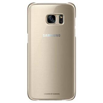 Genuine Samsung Clear Cover Case for Samsung Glaxy S7 Edge (Gold)