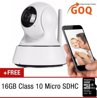GOQ Q3 IP CAM 720P HD Wifi Home Office Security Camera P2P Pan TiltWireless CCTV Night Vision FREE 16GB