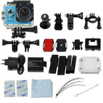 GOQ SJ7000 Action Sports Camera 2-inch LCD WiFi Cam Camcorder Full HD 1080P With Accessories (Blue)