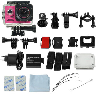 GOQ SJ7000 Action Sports Camera 2-inch LCD Wifi Cam Camcorder Full HD 1080P With Accessories (Pink)