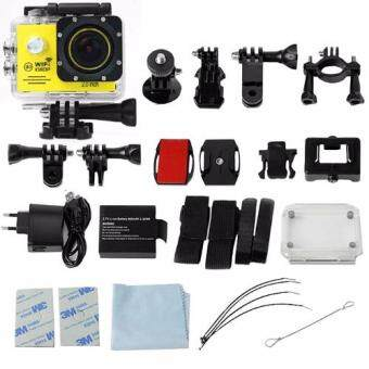 GOQ SJ7000 Action Sports Camera 2-inch LCD Wifi Cam Camcorder Full HD 1080P With Accessories (Yellow)