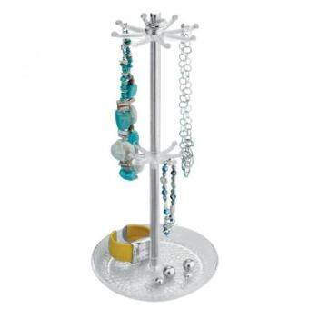 Malaysia Prices GPL/ InterDesign Rain Jewelry, Necklaces, Bracelets, Bangles,Countertop Holder Organizer, Clear & Chrome/ship from USA