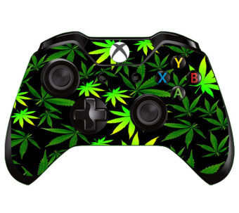 Harga Green Leaf 1pc Gift Skin for Xbox ONE X box ONE Controller Sticker Decal