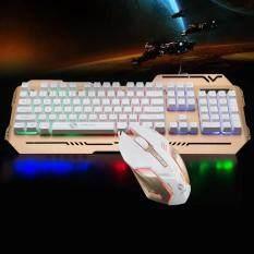 GTX400 Colourful Light Gaming Mechanical Keyboard Mouse Combo Malaysia