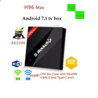 Harga H96 MAX 4GB/32GB RK3399 Hexa-Core Cortex-A53 Android 7.1 TV Box WiFi AC USB3.0 vs h96 pro+
