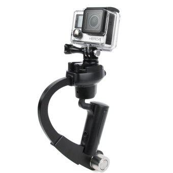 Harga Handheld Video Stabilizer Curve Steadycam Black for Gopro Hero 4 3Sjcam SJ4000 Xiaomi Yi Action Camera