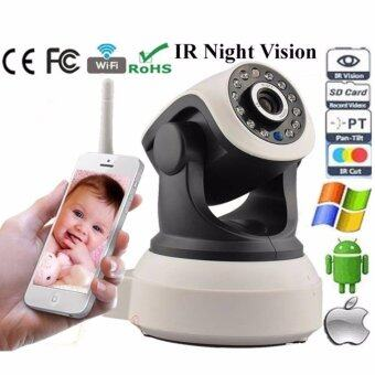 HD 1280* 720p Wifi IP Camera P2P 2 Way Audio CCTV IR Night Vision /TF Slot