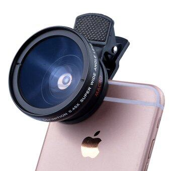 Harga HD 37MM 0.45x Super Wide Angle Lens with 12.5x Super Macro Lens forMobile Phone Lenses
