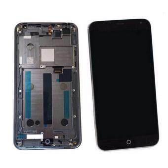 Harga High Quality LCD For Meizu MX4 LCD Display+ Touch Screen GlassDigitizer Full Assembly with Frame+tools Black