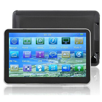 Harga Hot 5 Inch Auto Car GPS Navigation Sat Nav 4gb New Map Wince 6.0 FmMp4