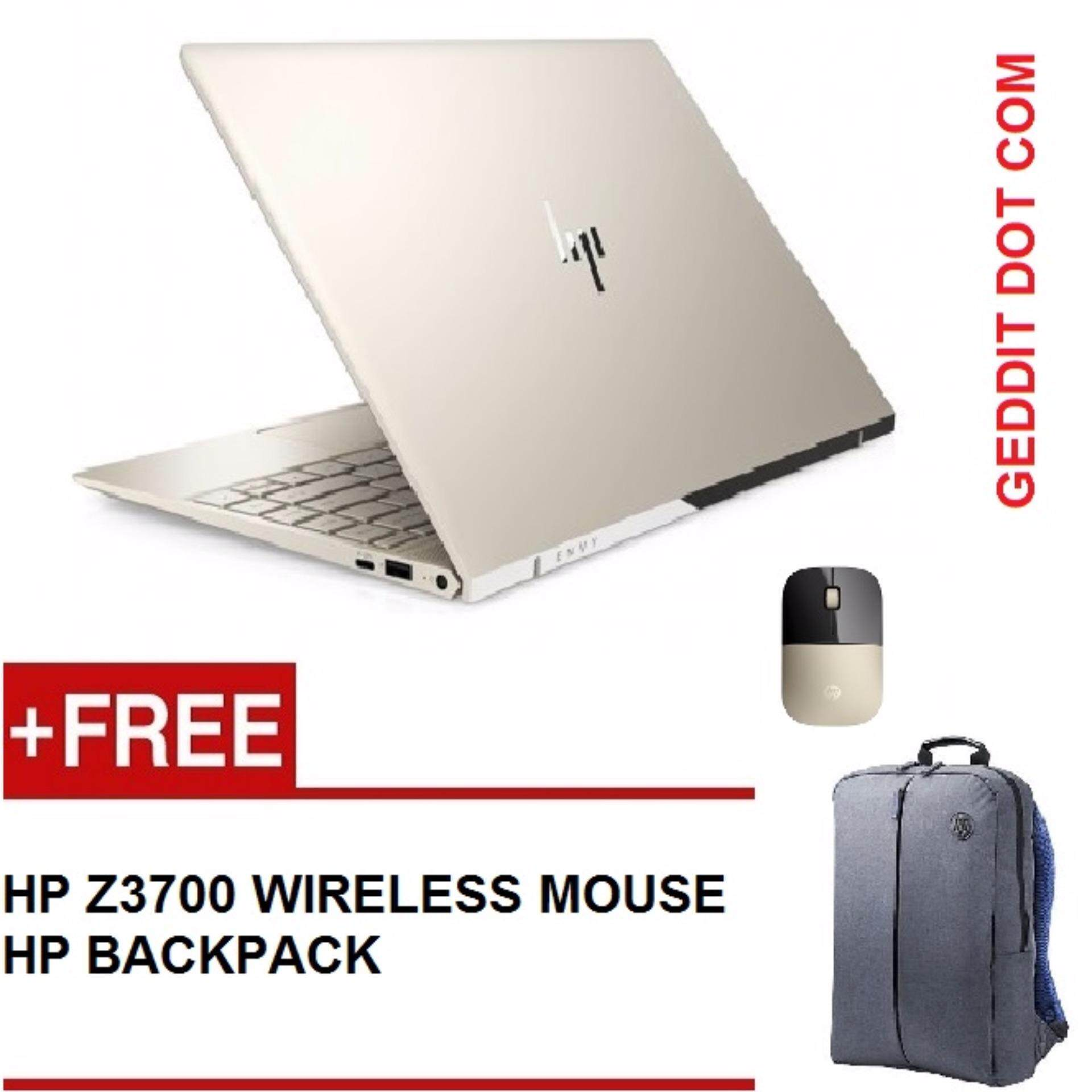 HP ENVY 13-AD102TU / 13-AD103TU NOTEBOOK (i5-8250U,8GB,256GB SSD,NO DVD,WIN10,13.3 FULLHD,2YEAR ONSITE) FREE BACKPACK +HP Z3700 WIRELESS MOUSE Malaysia