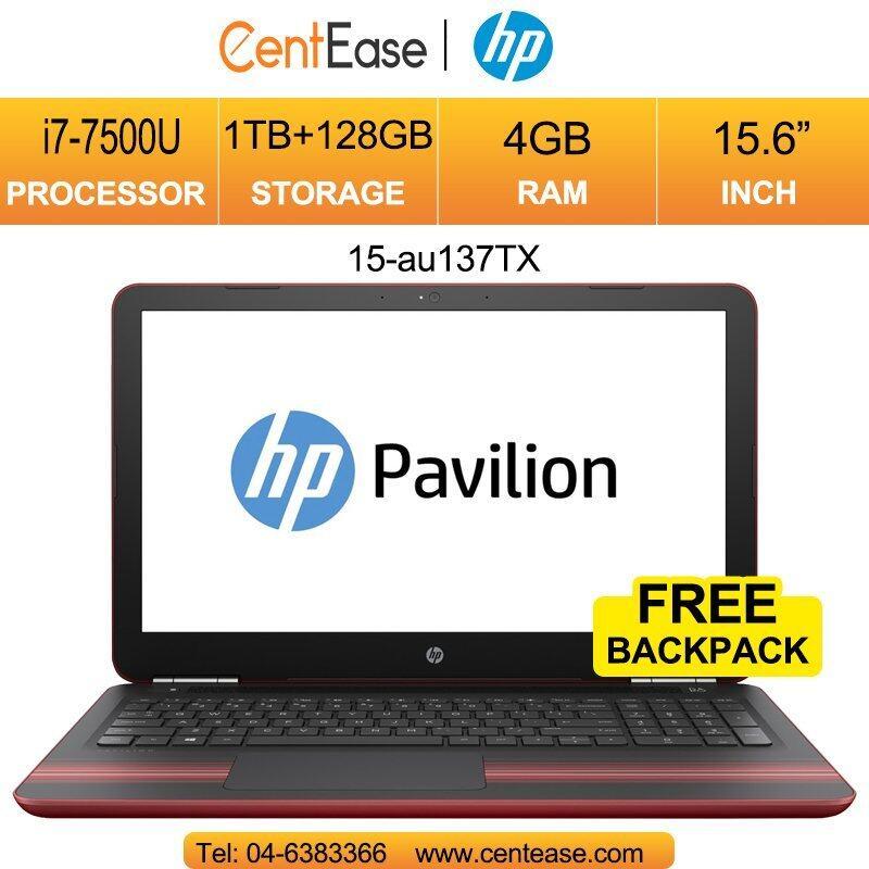 HP Pavilion 15-au137TX Laptop- 15.6Inch/ i7-7500U/ 4GB/ 1TB+128GB/ W10 Malaysia