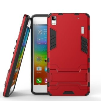 Harga Hybrid Armor Hard Back Case Cover with kickstand for Lenovo K3 Note / Lenovo A7000 Turbo 2016 / Lenovo A7000 / A7000 Plus 5.5 Inch