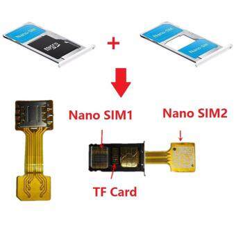Hybrid Double Dual SIM Card Micro SD Adapter Nano To Nano for Android Extender Nano SIM Adapter for XIAOMI REDMI NOTE 3 4 3s PRO Max (Nano)