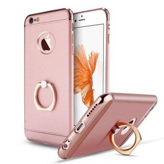 Harga I Tech 3 in 1 Ultra Slim Metal Hybrid Anti-skidding Hard Back Case Cover With Ring Kickstand for Apple iphone 5/5S/SE (Rose Gold)