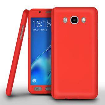 I Tech 360 Degree Full Body Protection Cover Case With Tempered Glass for Samsung Galaxy J2 Prime (Red)