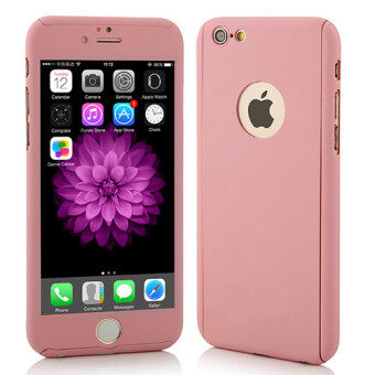 Harga I Tech 360 Degree Full Body Protection Cover Show Logo Case WithTempered Glass For iPhone 5/5S/5SE (Rose Gold)