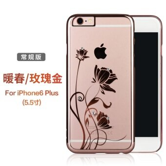 Icon 6 plus/iphone6s crystal transparent ultra-thin beautiful protective case phone case