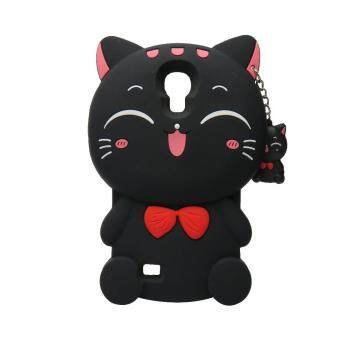 Harga 3D Cute Lucky Cat Smiling Fortune Cat Soft Silicon Back Cover Case For Samsung Galaxy S4