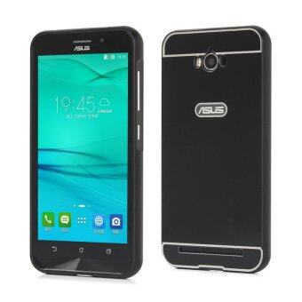 Harga Moonmini PC Back Cover Metal Bumper Frame Case for Asus ZenFone Max ZC550KL (Black)