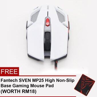 Harga Fantech V2 KAEL 2400 DPI LED Optical 6D USB Wired Gaming Mouse with Luminous Logo - White