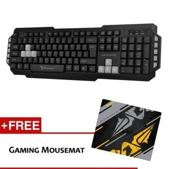 Harga Alcatroz Xplorer M550 Multimedia Keyboard Free Mousemat (Grey)
