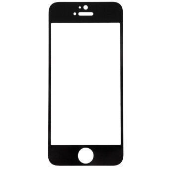 Harga Moonmini Case Tempered Glass Film Screen Protector for iPhone 5 5S 5C (Black)