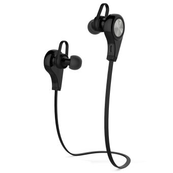 Harga LoveSport Wireless Bluetooth In-ear Stereo Headphone Earphone for Samsung Iphone (Black)