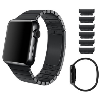 Harga 1:1 Original Link Bracelet Stainless Steel Strap Apple Watch Series 2 / 1 Band 42mm Black