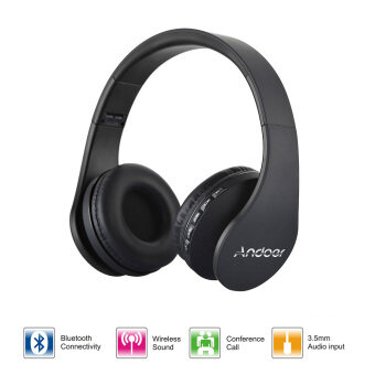 Harga Andoer LH-811 Digital Wireless Bluetooth Headphone(Black)