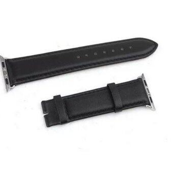 Harga Metal Buckle Cowhide Leather Watch band for Apple Watch iwatch 38mm (black)