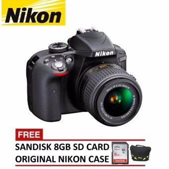 Harga (OFFICIAL) Nikon D3300 24.2MP AF-P18-55mm Nikkor VR Lens + 8GB Sandisk Ultra SDHC + Nikon DSLR Bag (Nikon Malaysia Warranty)