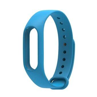 Harga Original Mijobs Replace Silicon Strap For Xiaomi Mi Band 2 Replaceable Belt For MiBand 2 – Blue