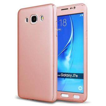 Harga 360 Degree Full Body Hard PC Protective Back Case With Tempered Glass For Samsung Galaxy J510/J5 2016 (Rose Gold)