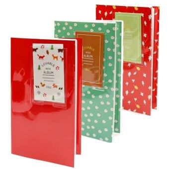 Harga KEEP/Fujifilm Instax Album 84 Photo Lovable Korean Style (Red)+(Daisy Green)+(Leaf Red)=3 x Album (sku:51033