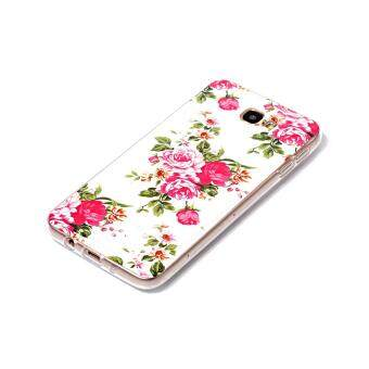Harga Noctilucent Patterned IMD TPU Case for Samsung Galaxy J7 Prime/On7 2016 - Blooming Peonies