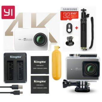 Harga (Genuine) Xiaomi XiaoYi Yi 4K 12MP Sport Action Camera International Version Ultimate Bundle Pack - WHITE