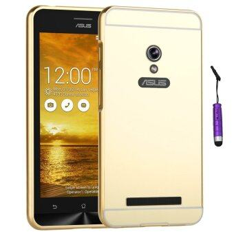 Harga Moonmini Metal Frame Bumper Case for Asus Zenfone 5 (Golden)
