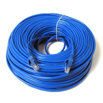 Harga 20M 65ft RJ45 CAT5E CAT5 Ethernet Internet Network Patch LAN Cable Cord Blue NEW