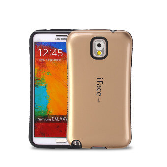 Harga iFace Heavy-Duty Shockproof Hard Case for Samsung Galaxy Note 3 (Gold)