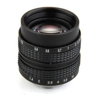 Harga Generic Mount CCTV 50mm f1.4 C Lens for Olympus PEN E-PL5 E-PM3 E-PM2 E-P3 E-PL3 Black