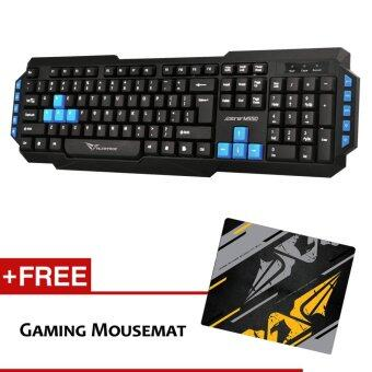 Harga Alcatroz Xplorer M550 Multimedia Keyboard Free Mousemat (Blue)