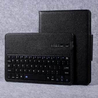 Harga Movable Bluetooth Keyboard Stand Litchi Leather Cover for Samsung Galaxy Tab S3 9.7-inch T820 - Black