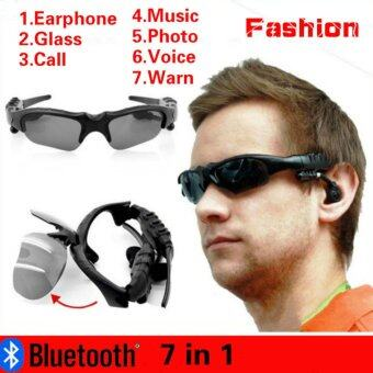 Harga V4.1 Outdoor Sports Bluetooth Earphone Glasses Stereo 7 in 1 Photo+Call + Music + Voice +Warn Smart Glasses(Color:Yellow)