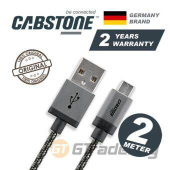 Harga CABSTONE Metal Charger Micro USB 2M Sony Xperia X XA Z5 Premium Z3 Z2 Z1 HTC One A9 M9+Plus M8 M7 E8 X Butterfly 2 Desire