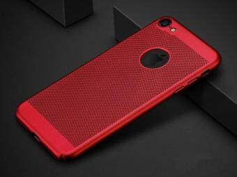 Harga Ultra-Thin Anti-Scratch Protective Breathable Cooling Mesh Hard Shell Back Case Cover for iphone 6 Plus / 6s Plus (Red)