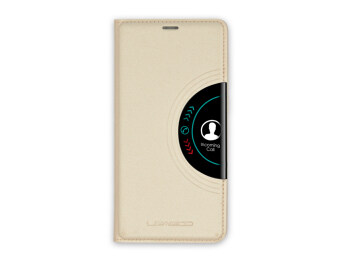 Harga Leagoo Alfa 2 Leather Flip Case (Gold)
