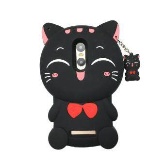 Harga 3D Cute Lucky Cat Smiling Fortune Cat Soft Silicon Back Cover Case For Xiaomi Redmi Note4